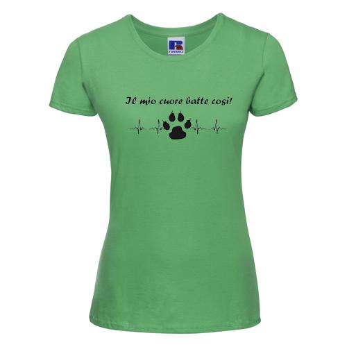 t-shirt personalizzata il mio cuore batte così