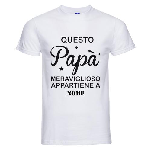 t-shirt personalizzata questo papà meraviglioso appartiene a