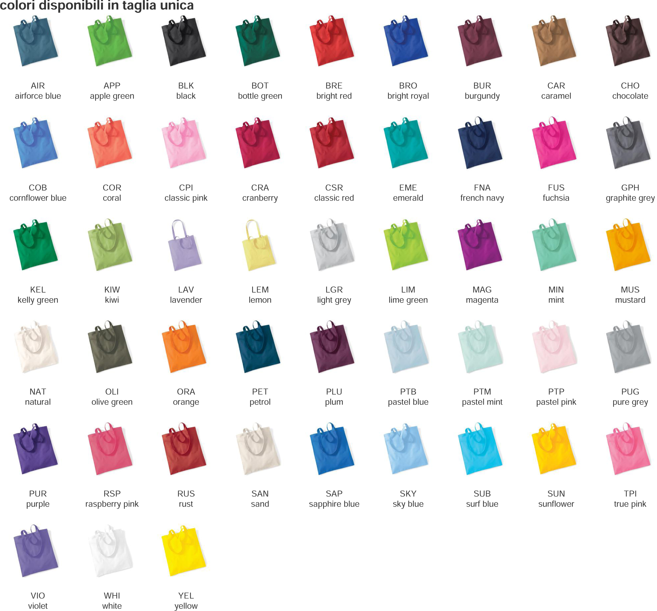 shopper bag colori